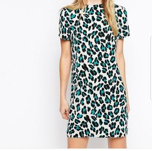 Asos Animal Print Shift Dress
